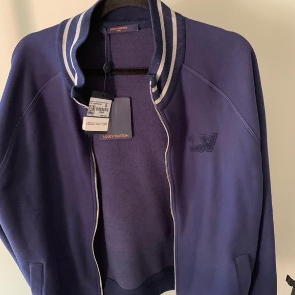 6225444c Men's Louis Vuitton varsity jacket blue NWT NWT